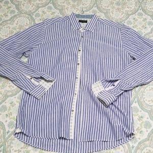 Like NewTed Baker Light Blue Pinstripe Dress Shirt